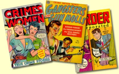 Three crime comic books